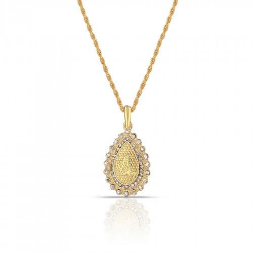 Altın Kaplama Bayan  Tuğra Kolye - Zincir Dahil PS0297
