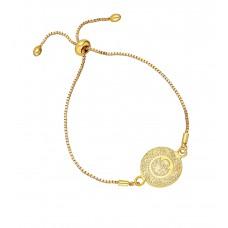 Altın Kaplama Bayan Asansörlü Sarı Tuğra Bileklik PS0575