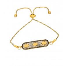 Altın Kaplama Bayan Asansörlü Özel Zirkon Taşlı Bileklik  PS0581