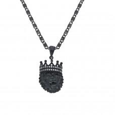 Erkek Aslan  Çelik Kolye 55 cm Zincir Dahil PS0717