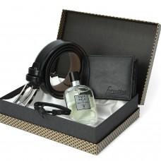 Erkek Kemer Cüzdan Bileklik  Seti Parfüm Hediye PS0789