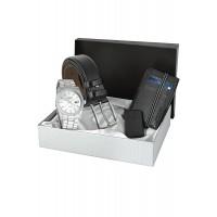 Forentina Siyah Kemer Cüzdan Saat Çakmak Kombin Set PS1308